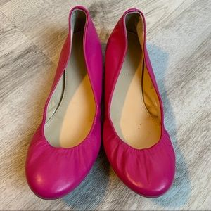 J. Crew Cece Ballet Flats in Hot Pink, Size 6